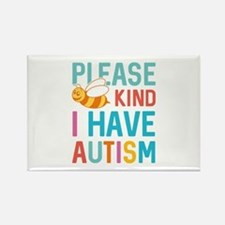 I Have Autism Rectangle Magnet