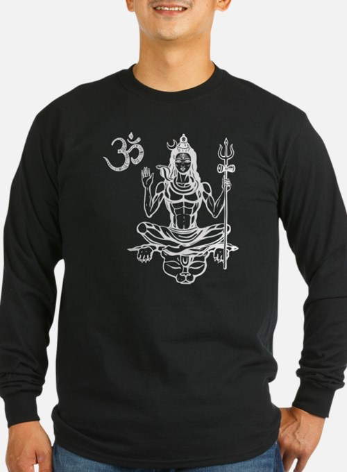 Om Shiva Hinduism God Good Spi Long Sleeve T-Shirt