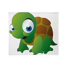 Cartoon Turtle Throw Blanket