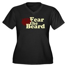 Fear the Beard - Red Women's Plus Size V-Neck Dark