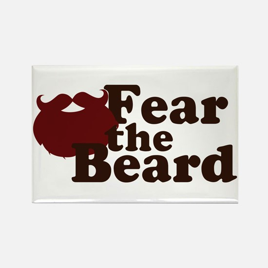 Fear the Beard - Red Rectangle Magnet