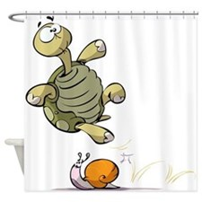 Jumping Turtle Shower Curtain
