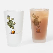 Jumping Turtle Drinking Glass