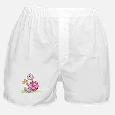 Pink Cartoon Turtle Boxer Shorts