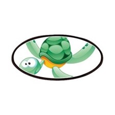 Swimming Cartoon Turtle Patches