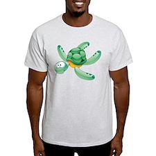 Swimming Cartoon Turtle T-Shirt