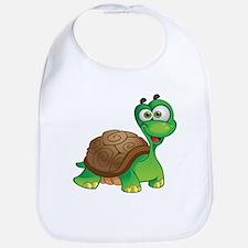 Funny Cartoon Turtle Bib