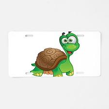 Funny Cartoon Turtle Aluminum License Plate