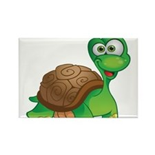 Funny Cartoon Turtle Rectangle Magnet