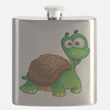 Funny Cartoon Turtle Flask