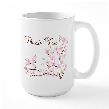 Cherry Blossoms Thank You Mug