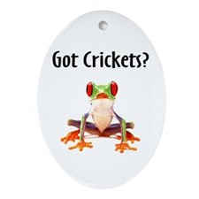 Red Eyed Tree Frog Oval Ornament