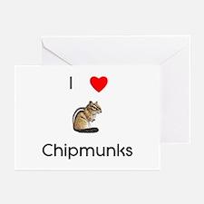I love chipmunks Greeting Cards (Pk of 10)