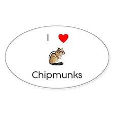 I love chipmunks Decal