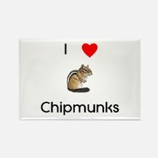 I love chipmunks Rectangle Magnet