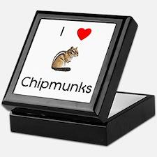 I love chipmunks Keepsake Box