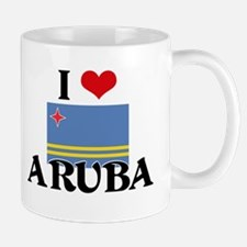 I HEART ARUBA FLAG Mug