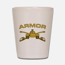 Armor Branch Insignia Shot Glass