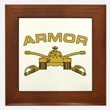 Armor Branch Insignia Framed Tile