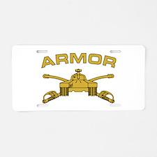 Armor Branch Insignia Aluminum License Plate