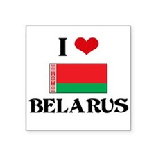 I HEART BELARUS FLAG Sticker