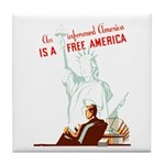 An Informed America Tile Coaster