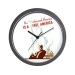An Informed America Wall Clock