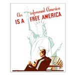 An Informed America Small Poster