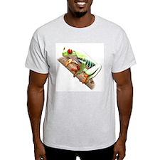 Red Eyed Tree Frog III Ash Grey T-Shirt