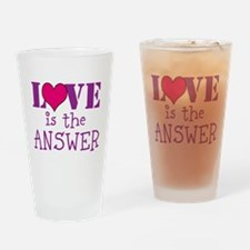 Love print Drinking Glass