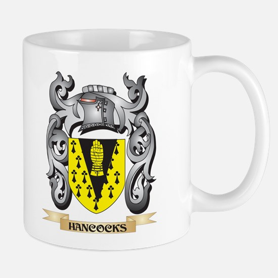 Hancocks Coat of Arms - Family Crest Mugs