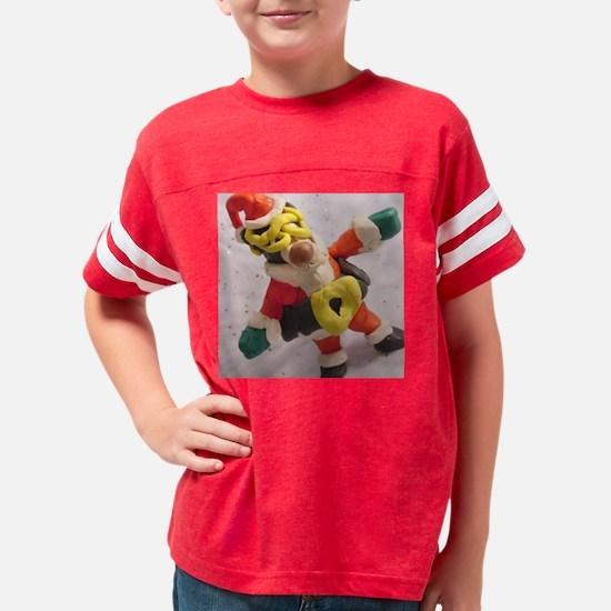 Santa Sloth_B Youth Football Shirt