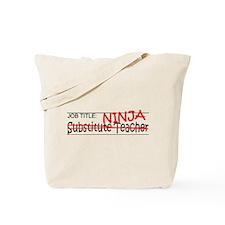 Job Ninja Sub Teacher Tote Bag