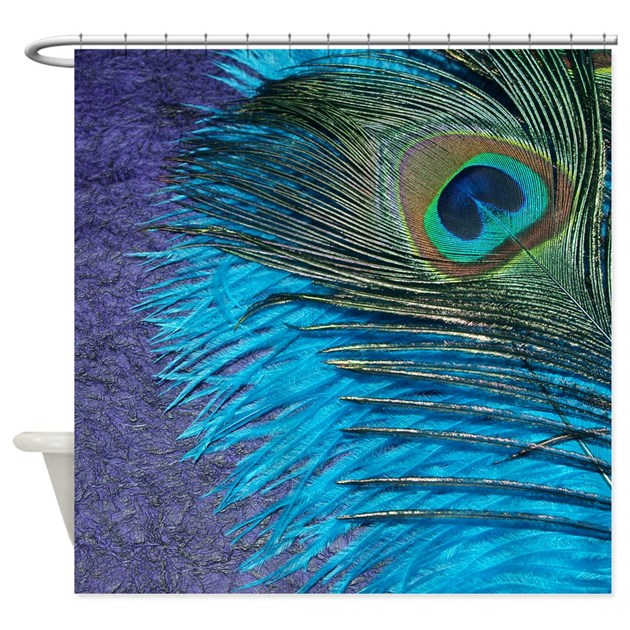 - Purple And Teal Peacock Shower Curtain By ChristyOliver