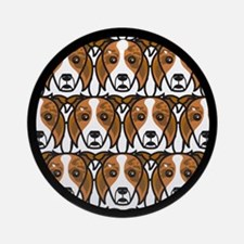 Red Merle Border Collies Ornament (Round)
