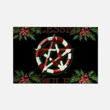 Blessed Yule Pentacle Rectangle Magnet