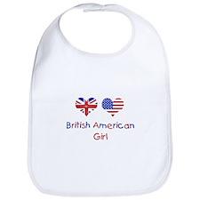 British American Girl Bib