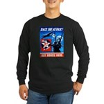 Back the Attack! Long Sleeve Dark T-Shirt