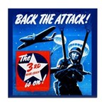 Back the Attack! Tile Coaster