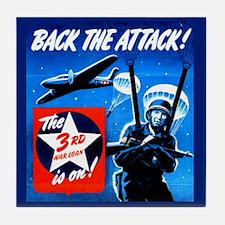 Back the Attack! Tile Coaster