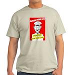 Button Your Lip! Ash Grey T-Shirt