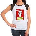 Button Your Lip! Women's Cap Sleeve T-Shirt