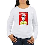 Button Your Lip! Women's Long Sleeve T-Shirt