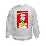 Button Your Lip! Kids Sweatshirt