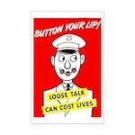 Button Your Lip! Mini Poster Print