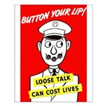 Button Your Lip! Small Poster