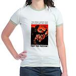 Fight For Freedom! Jr. Ringer T-Shirt