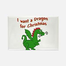 Christmas Dragon Rectangle Magnet