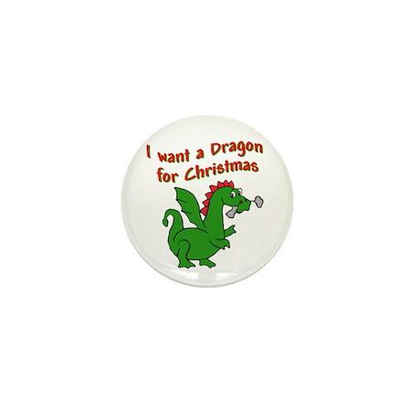 Christmas Dragon Mini Button (10 pack)