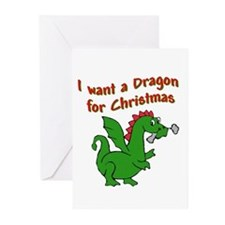 Christmas Dragon Greeting Cards (Pk of 10)